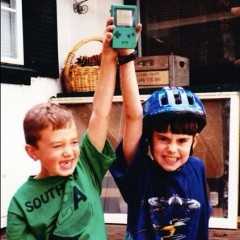 That's me on the right with my Gameboy Pocket