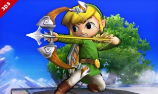 Toon Link in SSB on the 3DS